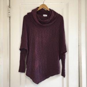 Allen Allen Cowl Neck Asymmetric sweatshirt